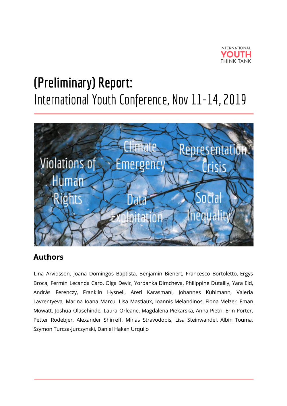 IYC 2019 Preliminary Report